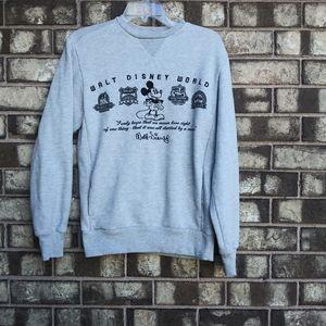Disney parks Gray sweatshirt size small